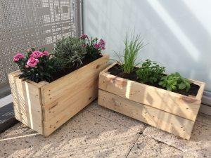 Fabriquer une jardinière en palette : le résultat